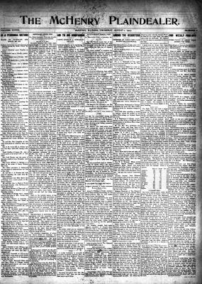 McHenry Plaindealer (McHenry, IL), 1 Aug 1907