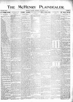 McHenry Plaindealer (McHenry, IL), 12 Sep 1907