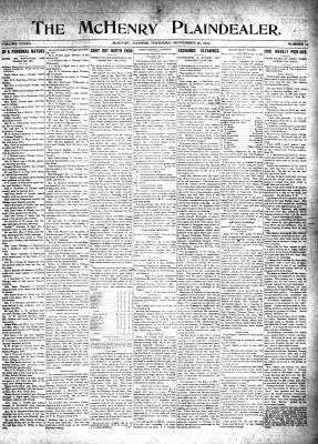 McHenry Plaindealer (McHenry, IL), 26 Sep 1907