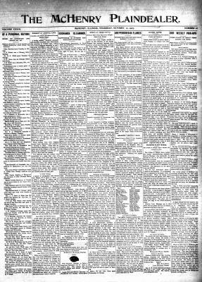 McHenry Plaindealer (McHenry, IL), 10 Oct 1907