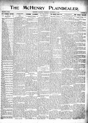 McHenry Plaindealer (McHenry, IL), 21 Nov 1907