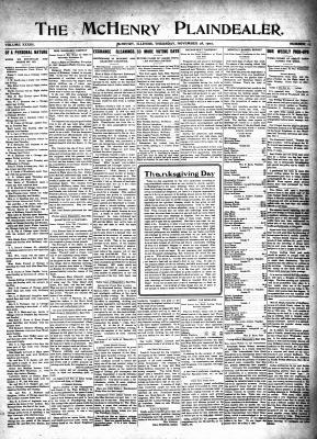 McHenry Plaindealer (McHenry, IL), 28 Nov 1907