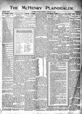 McHenry Plaindealer (McHenry, IL), 16 Jan 1908