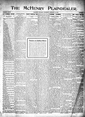 McHenry Plaindealer (McHenry, IL), 23 Jan 1908