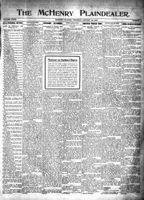 McHenry Plaindealer (McHenry, IL), 30 Jan 1908