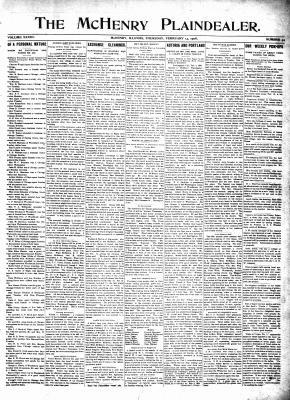 McHenry Plaindealer (McHenry, IL), 13 Feb 1908