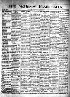 McHenry Plaindealer (McHenry, IL), 20 Feb 1908