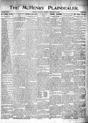 McHenry Plaindealer (McHenry, IL), 27 Feb 1908