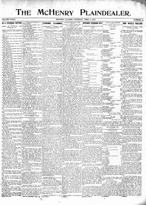 McHenry Plaindealer (McHenry, IL), 9 Apr 1908