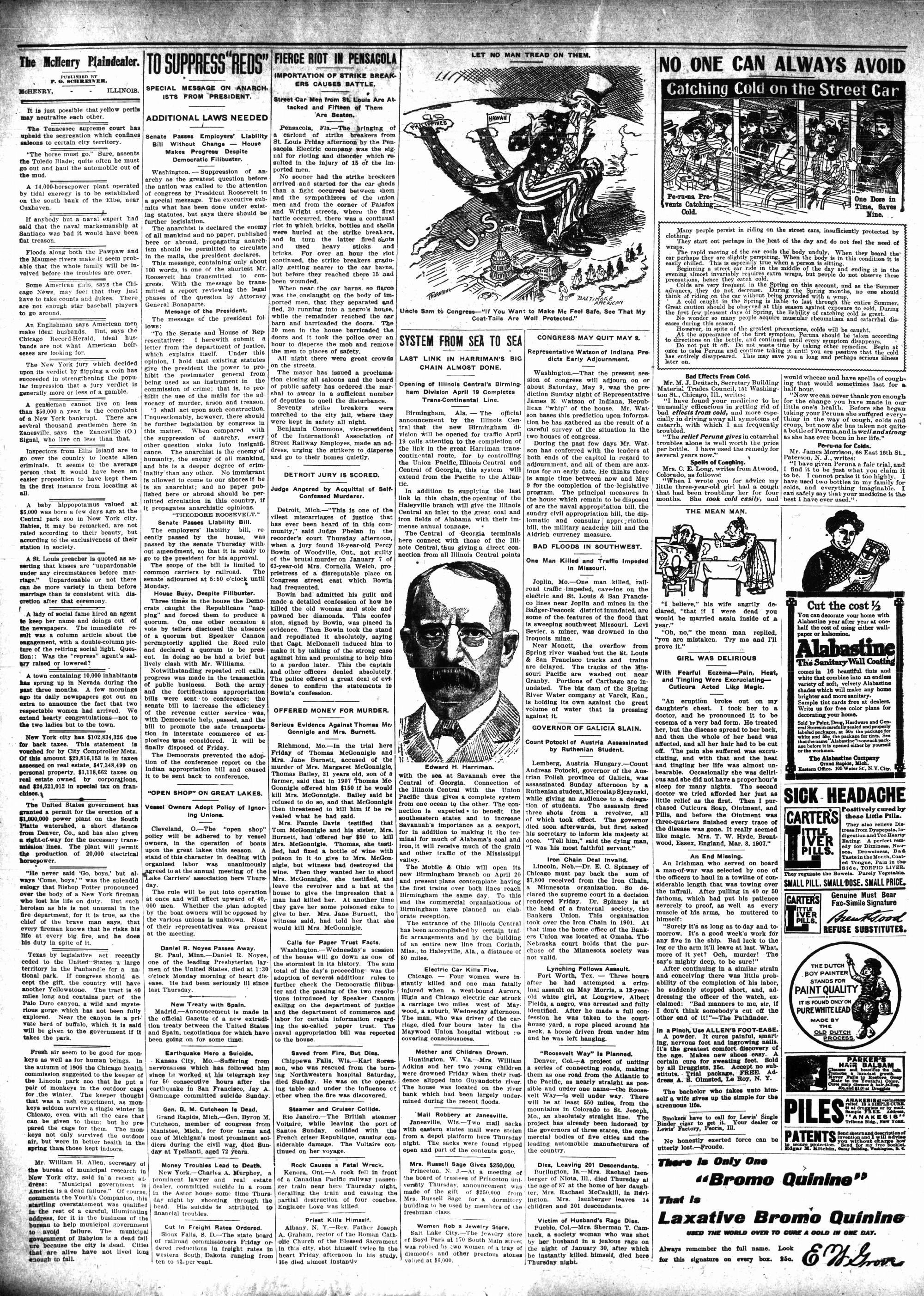 McHenry Plaindealer (McHenry, IL), 16 Apr 1908