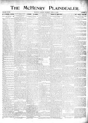 McHenry Plaindealer (McHenry, IL), 23 Apr 1908