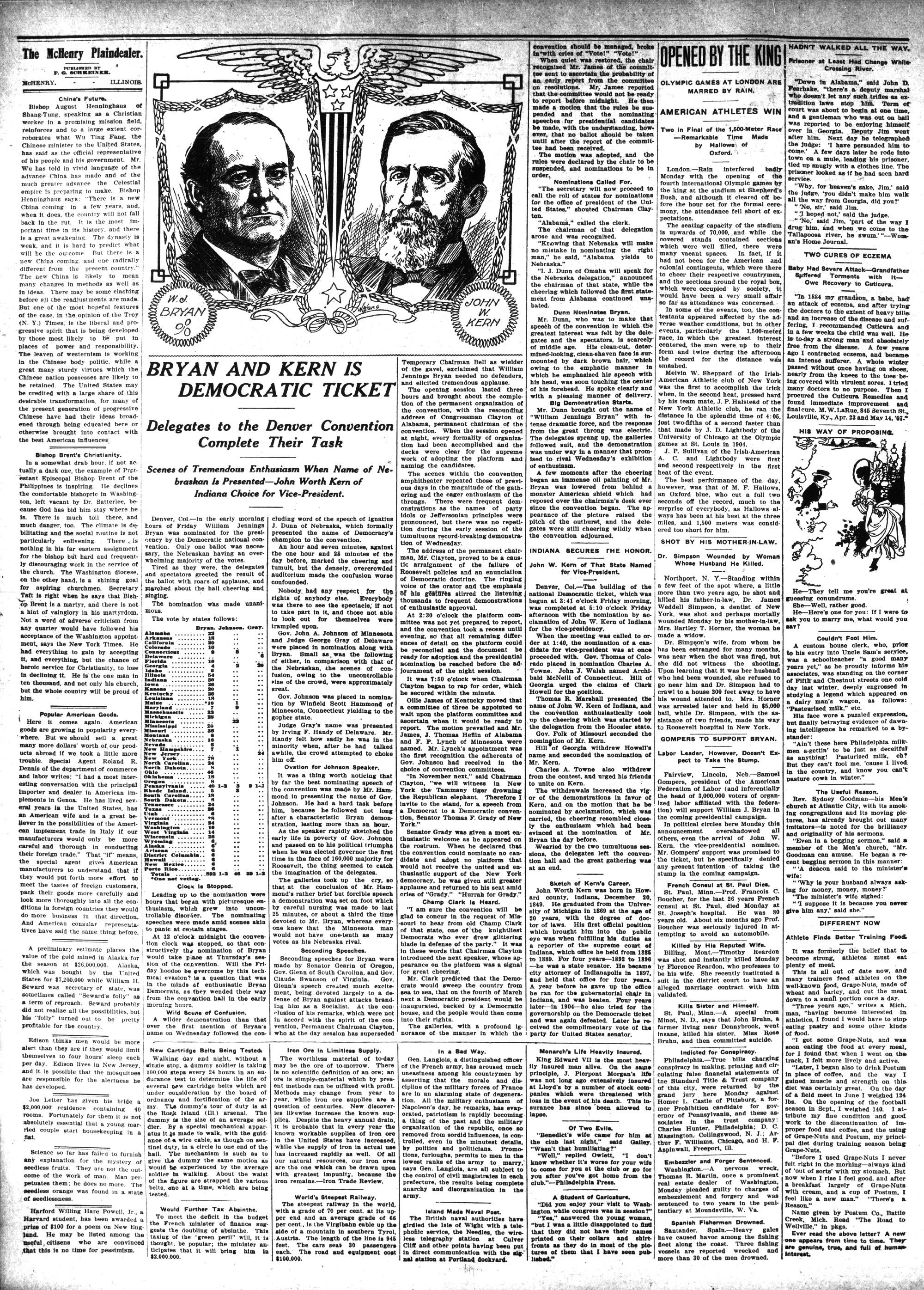 McHenry Plaindealer (McHenry, IL), 16 Jul 1908