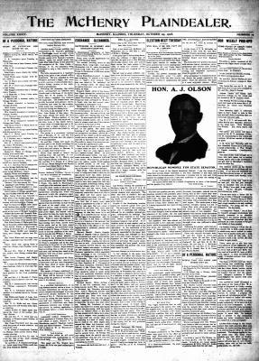 McHenry Plaindealer (McHenry, IL), 29 Oct 1908