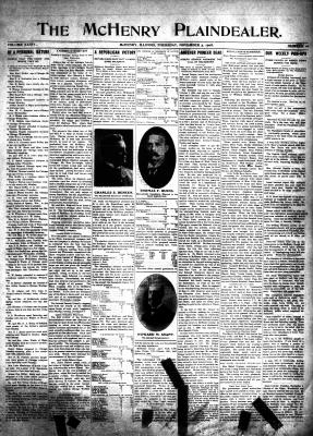 McHenry Plaindealer (McHenry, IL), 5 Nov 1908