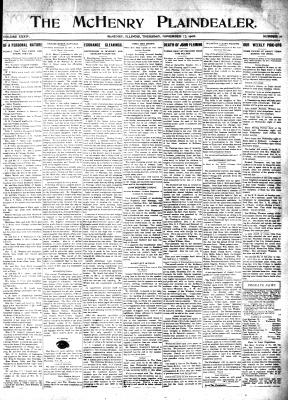 McHenry Plaindealer (McHenry, IL), 12 Nov 1908