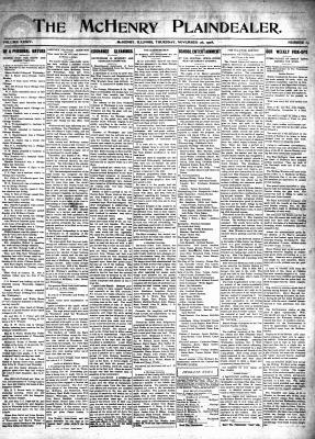 McHenry Plaindealer (McHenry, IL), 26 Nov 1908