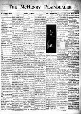McHenry Plaindealer (McHenry, IL), 3 Dec 1908