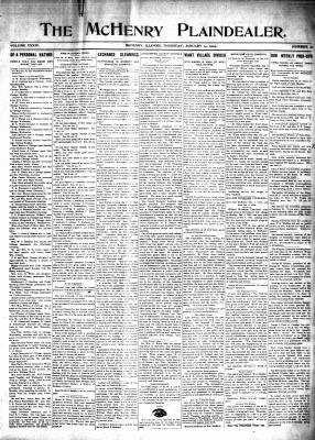 McHenry Plaindealer (McHenry, IL), 14 Jan 1909