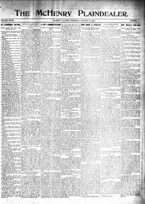 McHenry Plaindealer (McHenry, IL), 21 Jan 1909