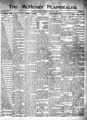 McHenry Plaindealer (McHenry, IL), 11 Feb 1909
