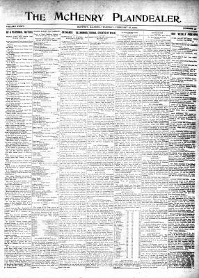 McHenry Plaindealer (McHenry, IL), 18 Feb 1909