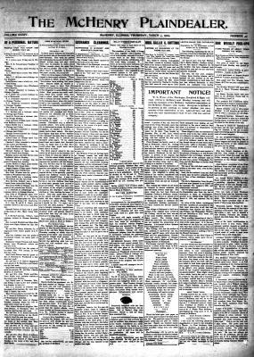 McHenry Plaindealer (McHenry, IL), 4 Mar 1909