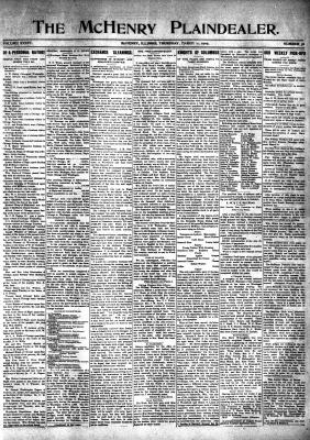 McHenry Plaindealer (McHenry, IL), 11 Mar 1909