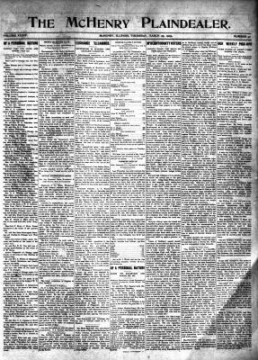 McHenry Plaindealer (McHenry, IL), 25 Mar 1909