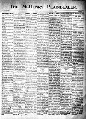 McHenry Plaindealer (McHenry, IL), 1 Apr 1909