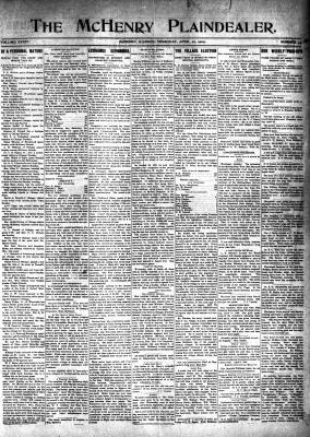 McHenry Plaindealer (McHenry, IL), 22 Apr 1909