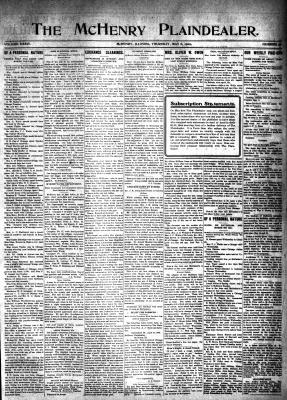 McHenry Plaindealer (McHenry, IL), 6 May 1909