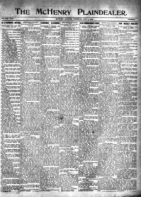 McHenry Plaindealer (McHenry, IL), 1 Jul 1909