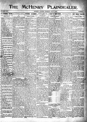 McHenry Plaindealer (McHenry, IL), 8 Jul 1909