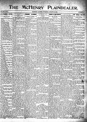 McHenry Plaindealer (McHenry, IL), 26 Aug 1909