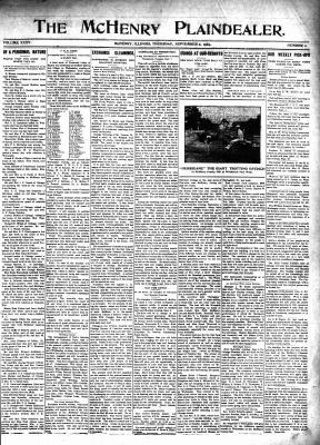 McHenry Plaindealer (McHenry, IL), 2 Sep 1909