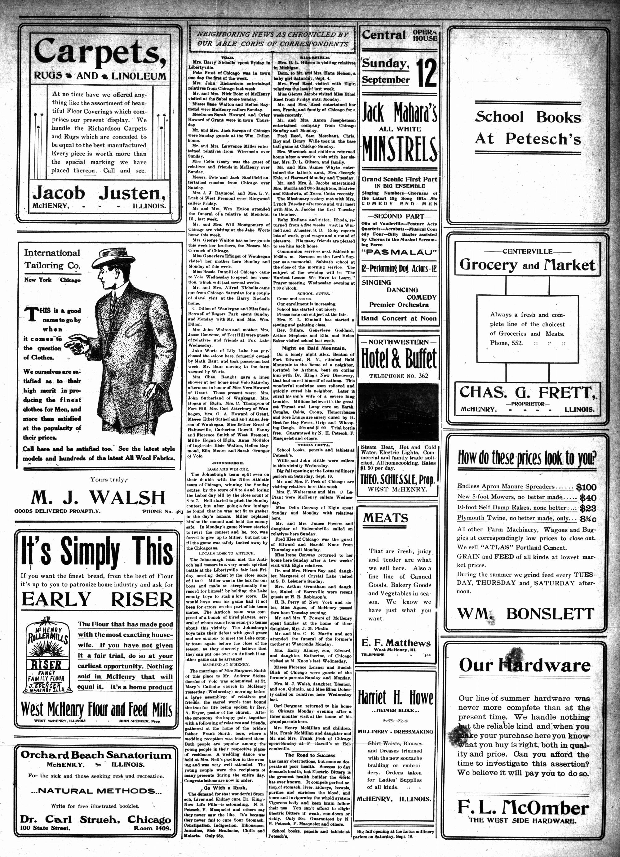 McHenry Plaindealer (McHenry, IL), 9 Sep 1909