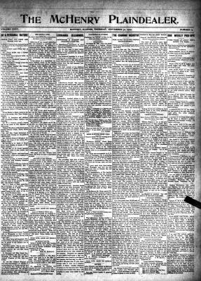 McHenry Plaindealer (McHenry, IL), 30 Sep 1909