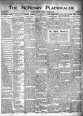 McHenry Plaindealer (McHenry, IL), 7 Oct 1909
