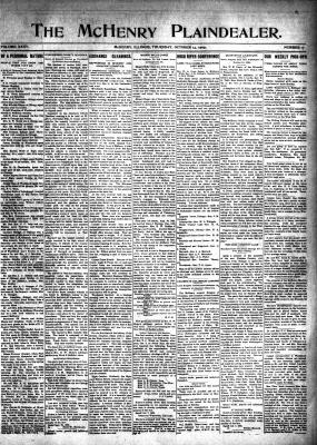 McHenry Plaindealer (McHenry, IL), 14 Oct 1909