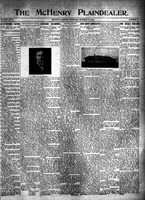 McHenry Plaindealer (McHenry, IL), 21 Oct 1909