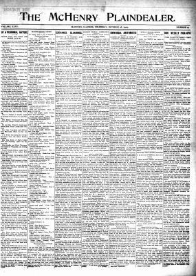 McHenry Plaindealer (McHenry, IL), 28 Oct 1909
