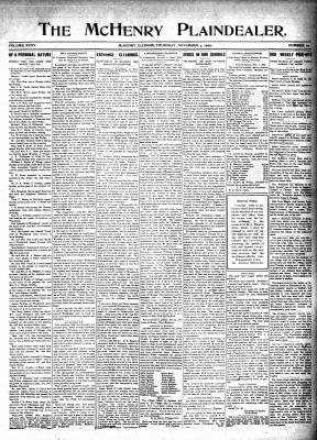 McHenry Plaindealer (McHenry, IL), 4 Nov 1909
