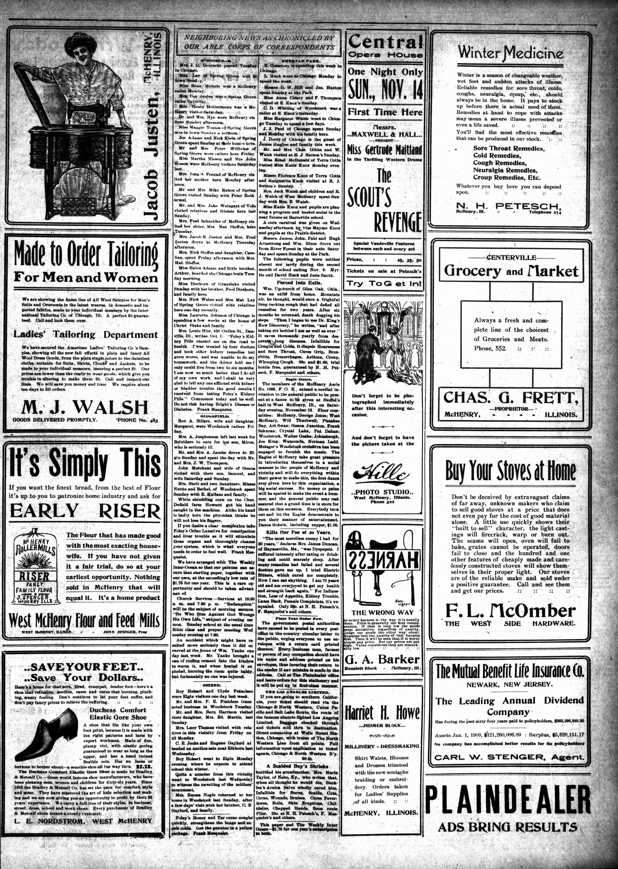 McHenry Plaindealer (McHenry, IL), 11 Nov 1909
