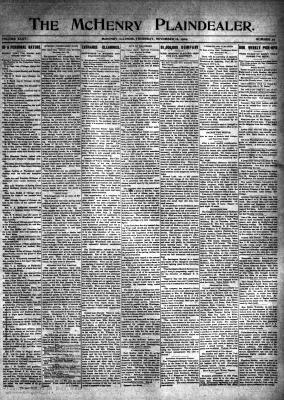 McHenry Plaindealer (McHenry, IL), 18 Nov 1909