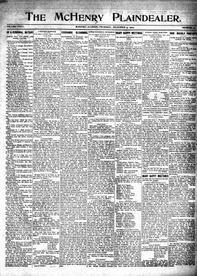 McHenry Plaindealer (McHenry, IL), 9 Dec 1909