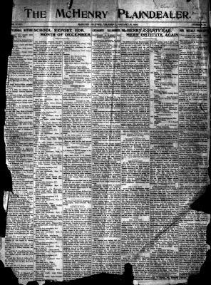 McHenry Plaindealer (McHenry, IL), 6 Jan 1910