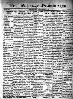 McHenry Plaindealer (McHenry, IL), 27 Jan 1910