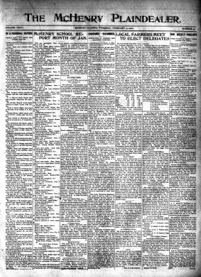 McHenry Plaindealer (McHenry, IL), 3 Feb 1910