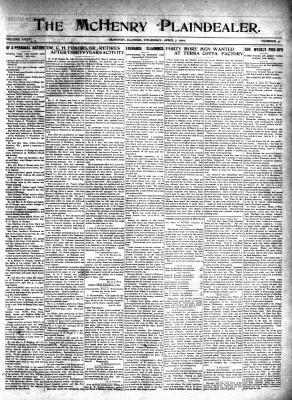 McHenry Plaindealer (McHenry, IL), 7 Apr 1910