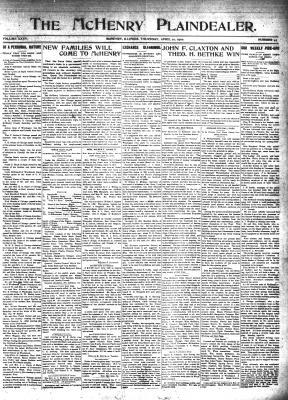McHenry Plaindealer (McHenry, IL), 21 Apr 1910